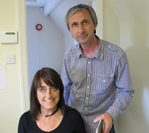 Support workers Rob Keane and Andrea Powell are helping people to overcome drug and drink problems.